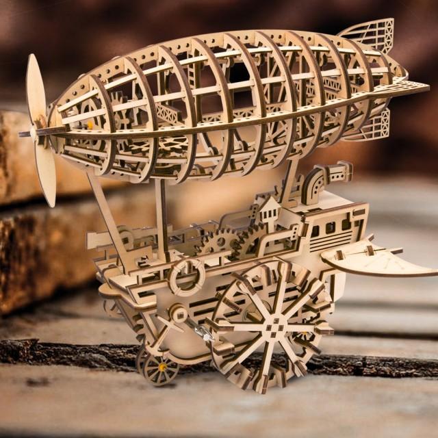 3D Wooden Mechanical Air Vehicle