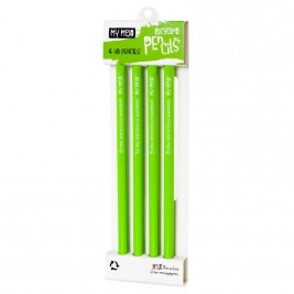 Recycled Newspaper Pencil, Pack of 4