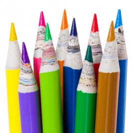 Recycled Newspaper Colouring Pencils, 10 Pack
