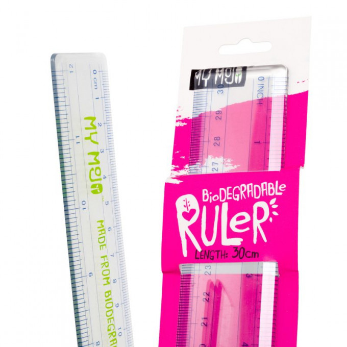 Biodegradable Ruler, 30cm