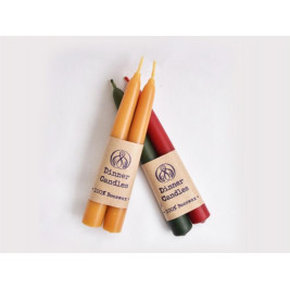 Natural Beeswax Dinner Candle