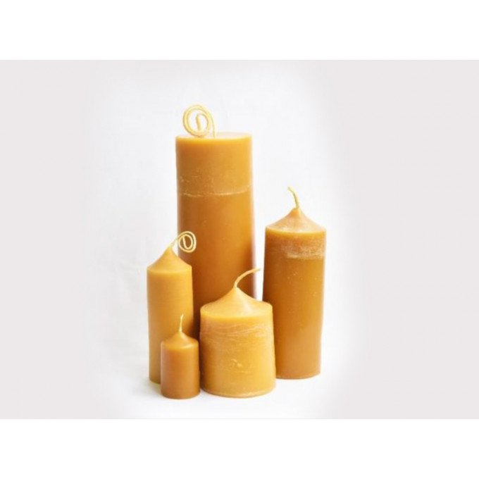 Natural Beeswax Cafe Candle
