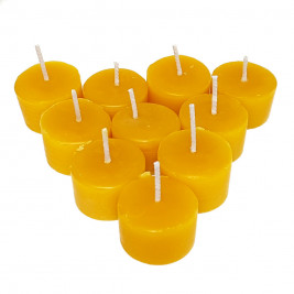 Natural Beeswax Tea Light Candle