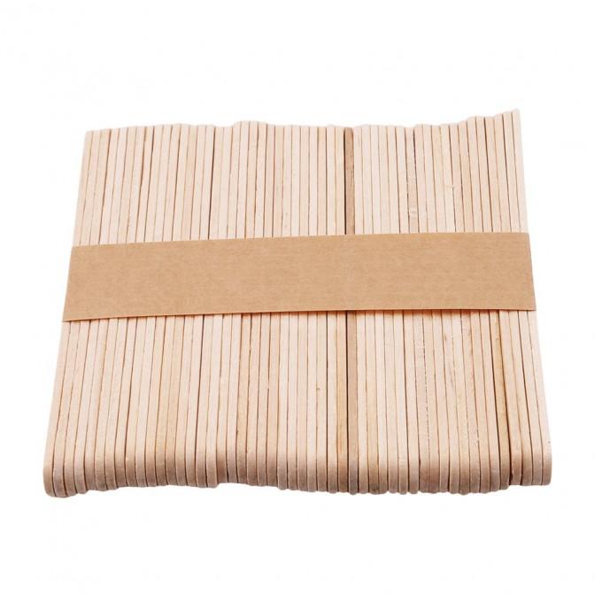 Natural Wooden Popsicle Sticks, 50Pcs/Set