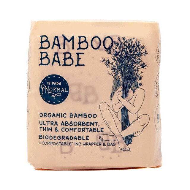Organic Bamboo Pads, Normal