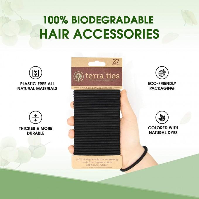 Hair Ties, 100% organic and biodegradable