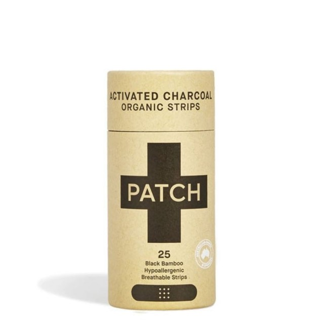 Bamboo plasters/band-aids, Activated Charcoal, Tube of 25