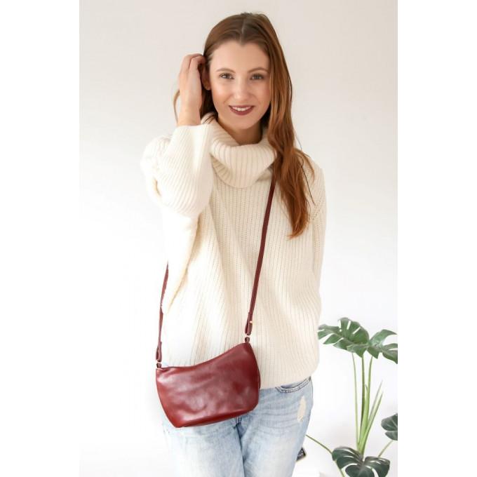 Cactus Leather Crossbody Bag, Liv