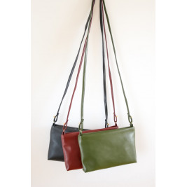 Cactus Leather Crossbody Bag, Paz