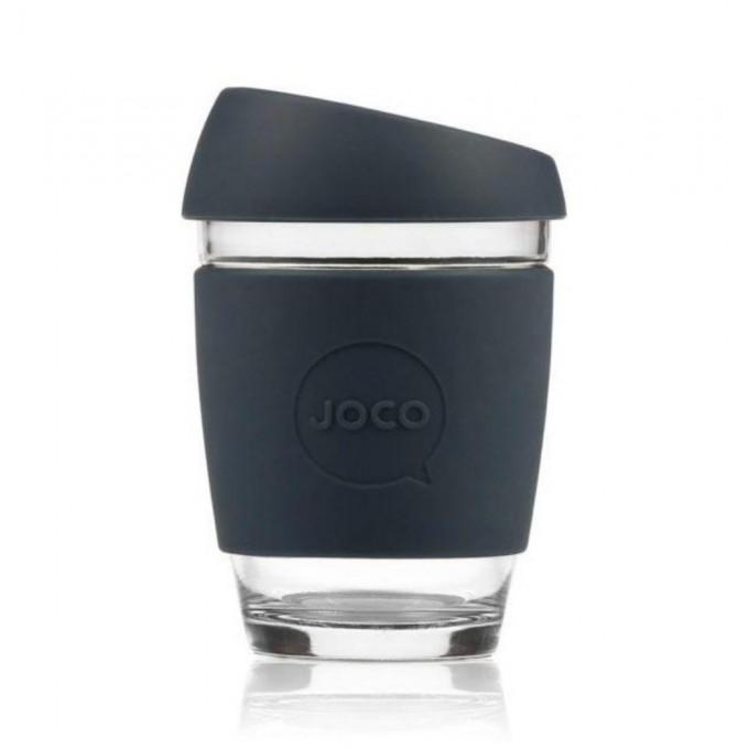 Reusable Glass Coffee Cup, 12oz