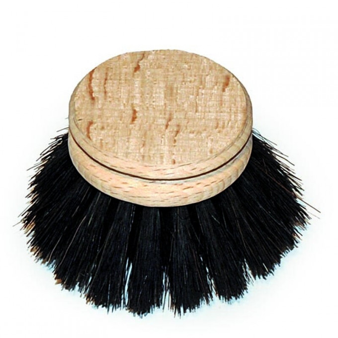 Replacement Head, Black Horse Hair Dish Brush