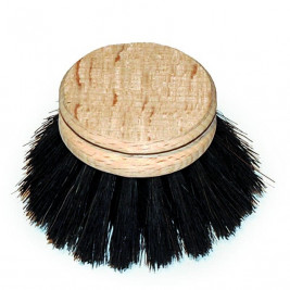 Replacement Head, Black Horse Hair Dish Brush, 50m