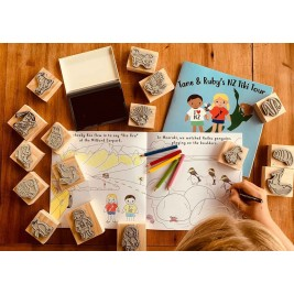 Tane and Ruby's NZ Tiki Tour Stamp activity Set