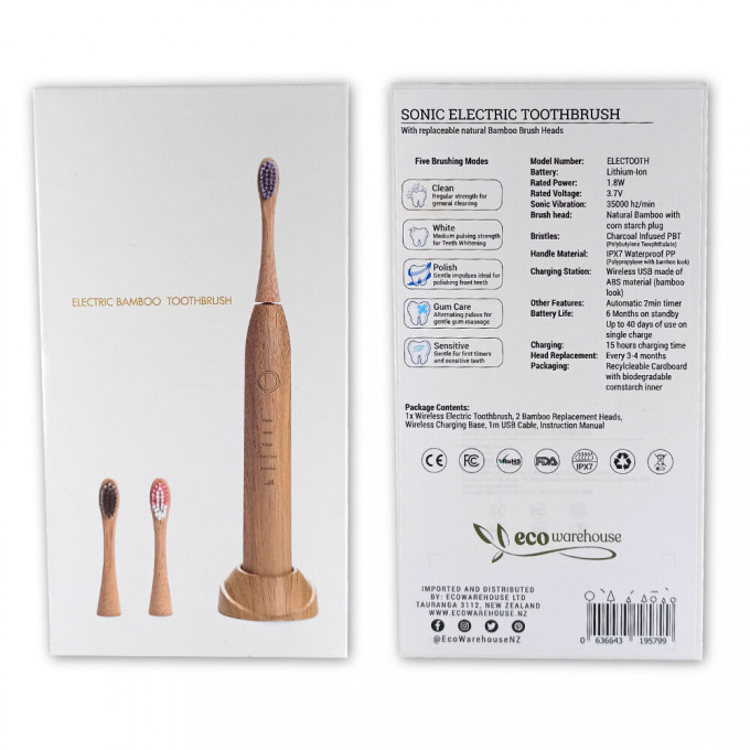 Bamboo Sonic Electric Toothbrush