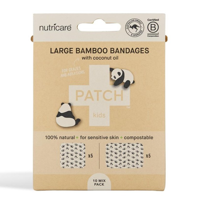 Bamboo plasters/band-aids, Kids, Tube of 25