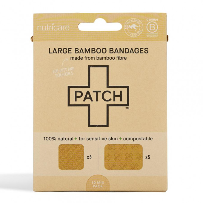 Bamboo plasters/band-aids, Natural, Tube of 25