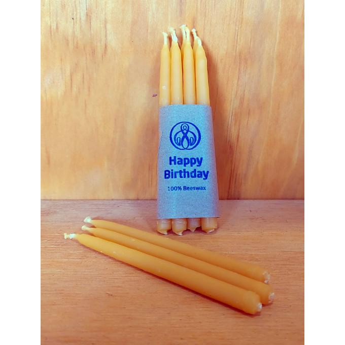 Natural Beeswax Birthday Candles