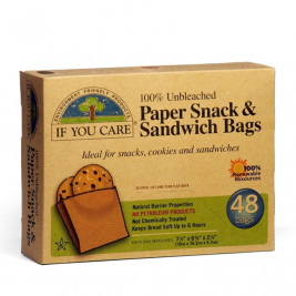 Paper Snack and Sandwich Bags, unbleached