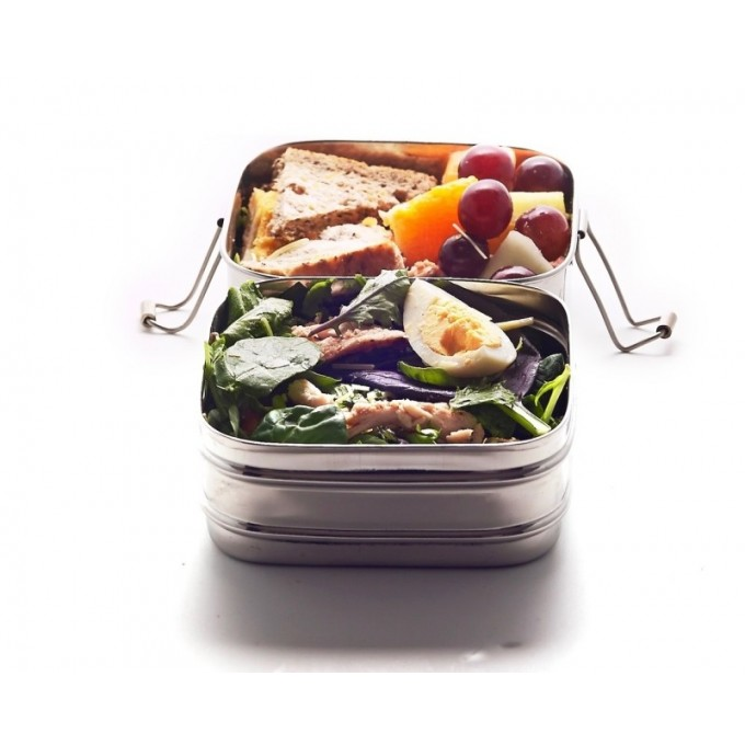 Square Stainless Steel Lunchbox