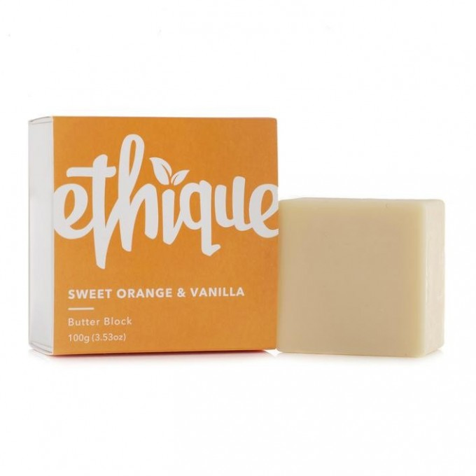 Ethique Sweet Orange and Vanilla Butter Block