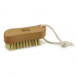 Wooden Nailbrush small with rope