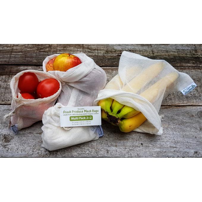 Fresh Produce Mesh Bags, Multi Pack (4 bags)