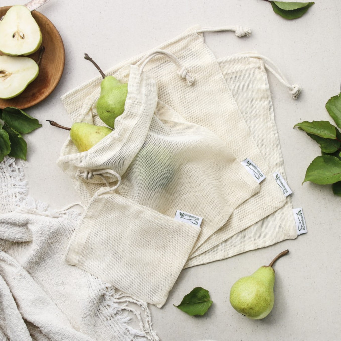 Fresh Produce Mesh Bags, Large Pack (4 bags)